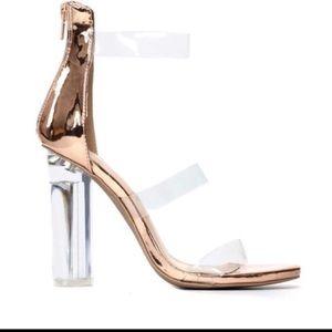 Fashion Nova Shoes - ⏰ SUPER SALE Fashion Nova Rosy Clear Heel